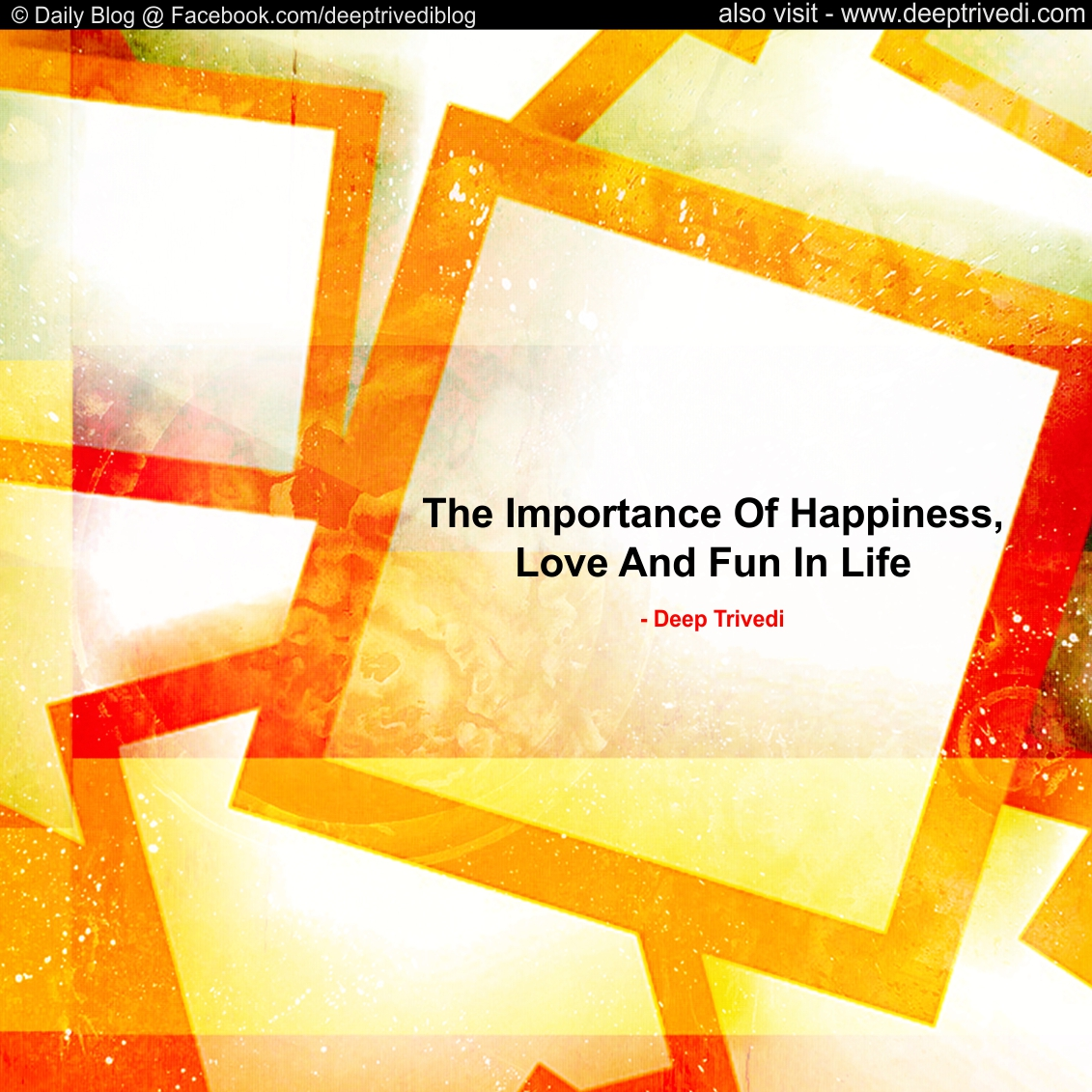 Importance Of Happiness