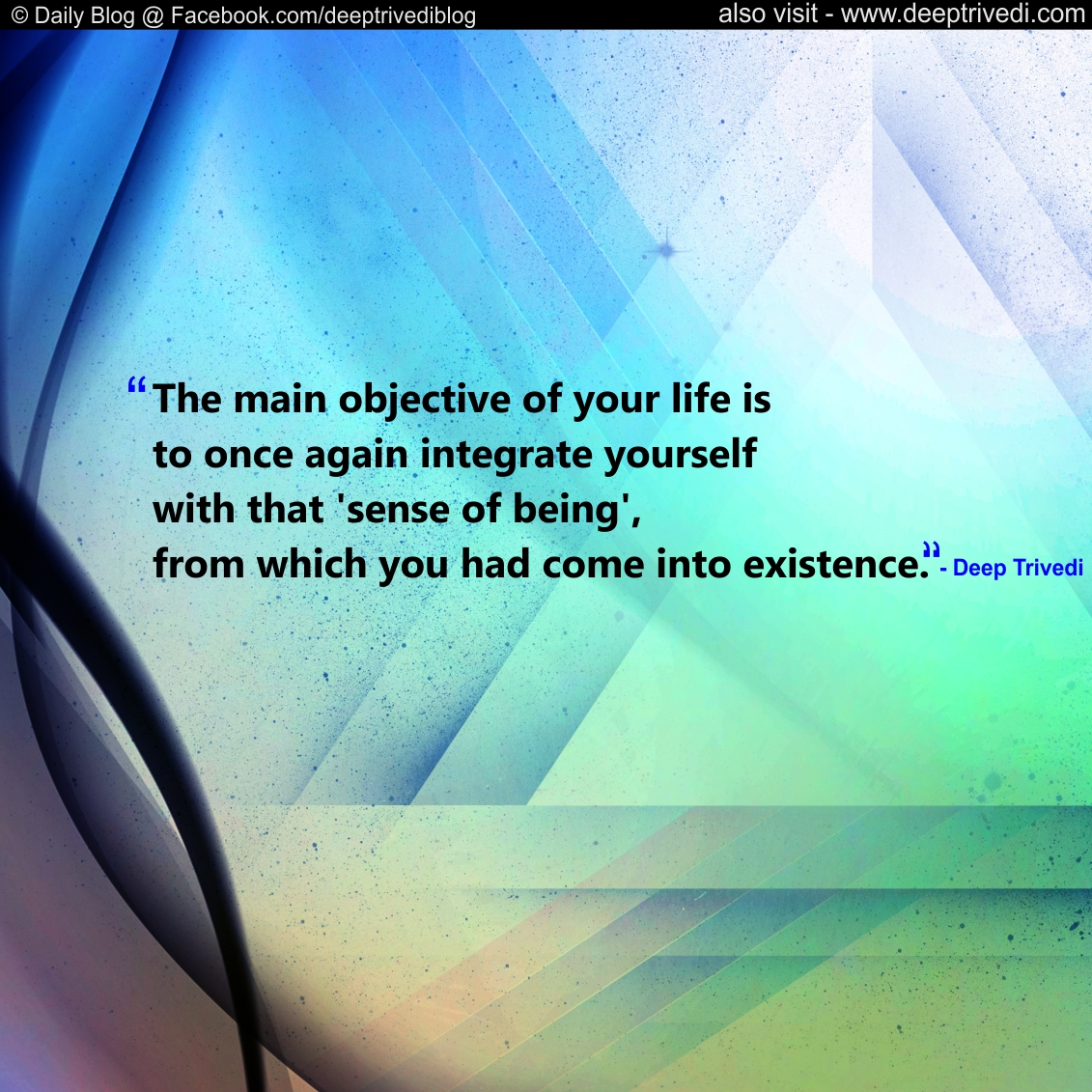 objective of your life