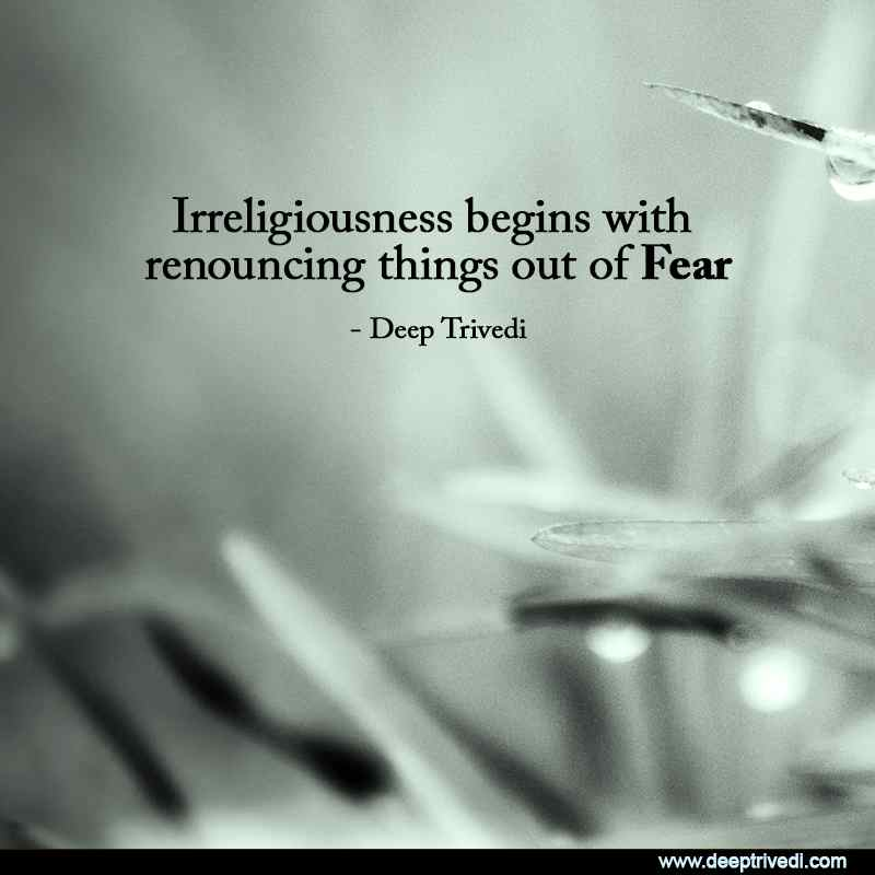 Irreligiousness Fear