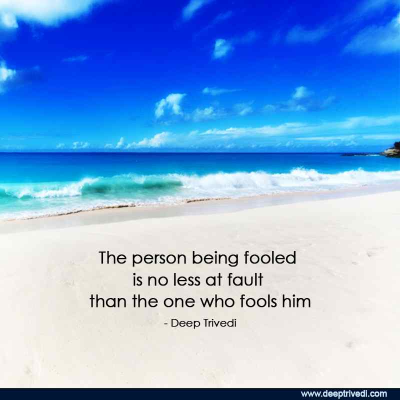 person being fooled