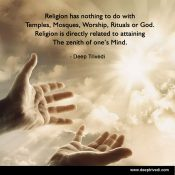 Religion has nothing to do with...