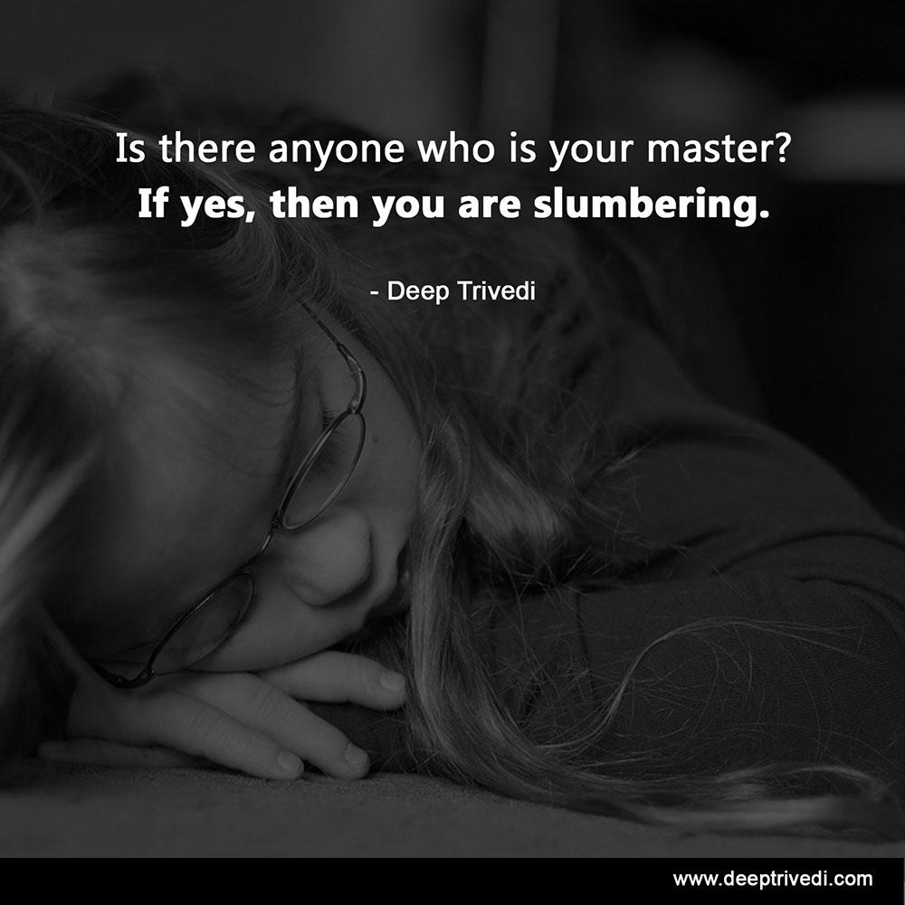slumering