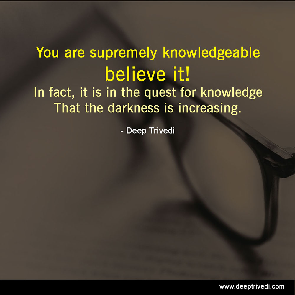 supremely knowledgeable