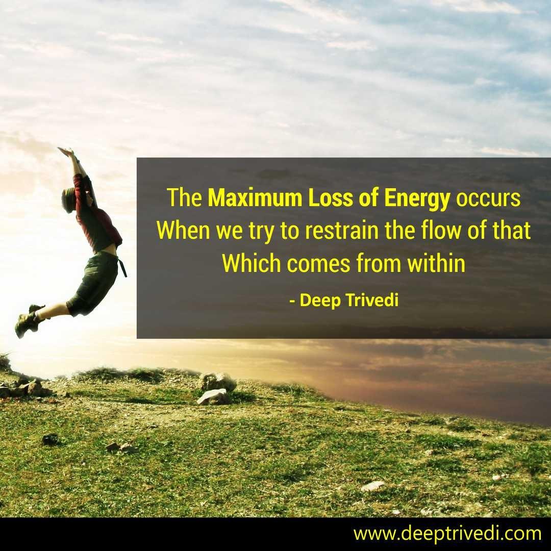 Maximum Loss of Energy