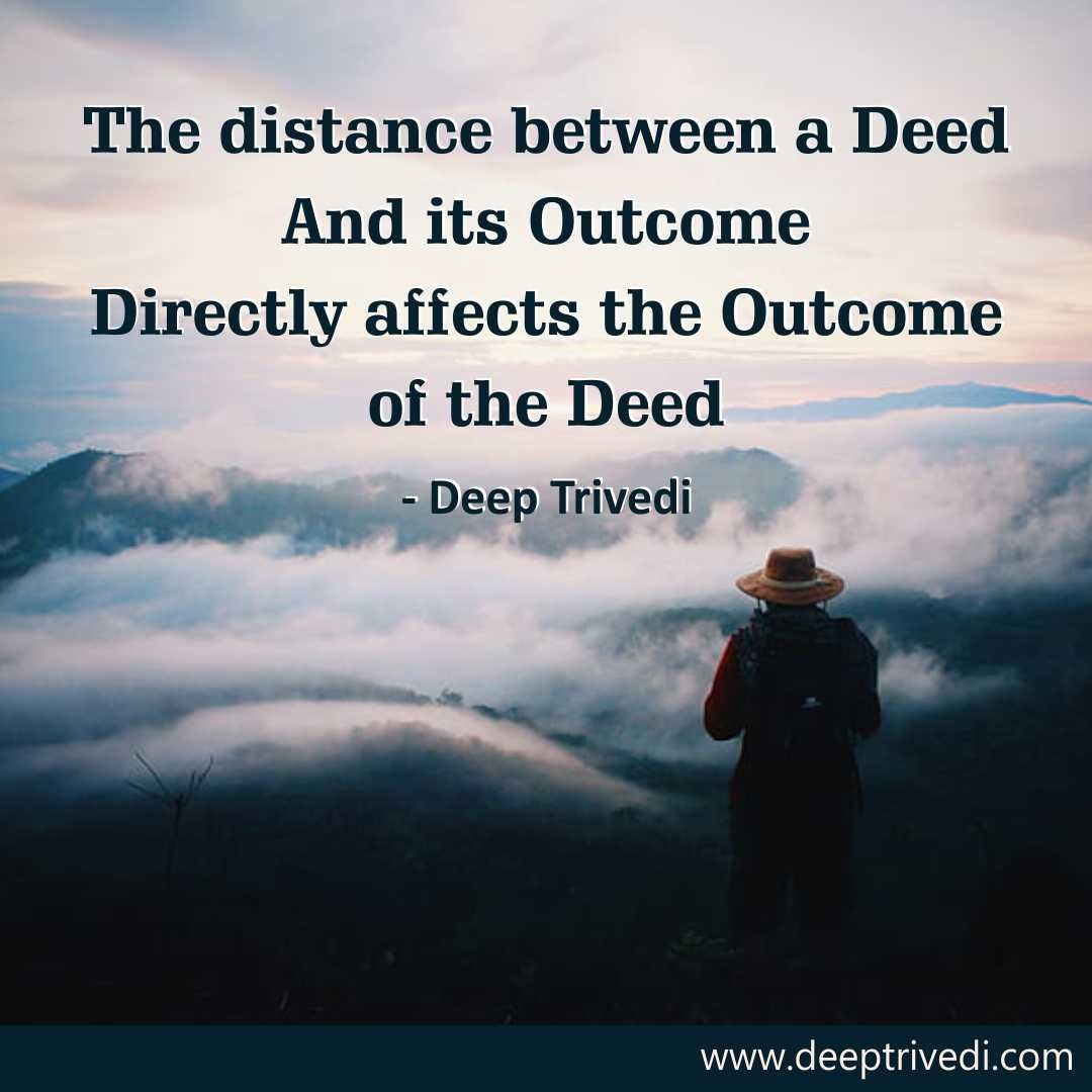 The distance between a Deed